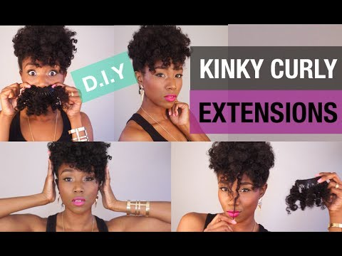 CURLY HAIR SOLUTIONS | DIY CURLY CLIP IN EXTENSIONS | CHEAP AFRO KINKY EXTENSION HAIR | UP DO