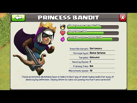 THE PRINCESS BANDIT!!!🔸NEW COC ART COMPETITION🔸Clash Of Clans