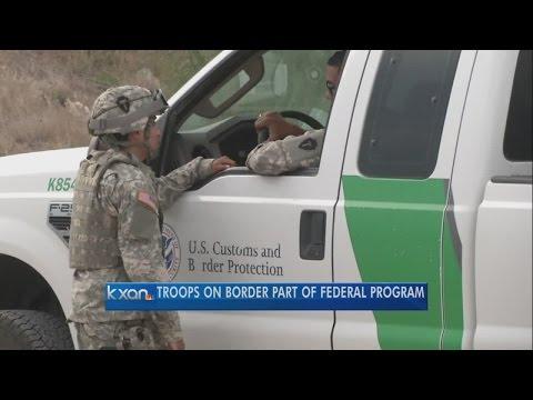 National Guard troops post up at Texas-Mexico border
