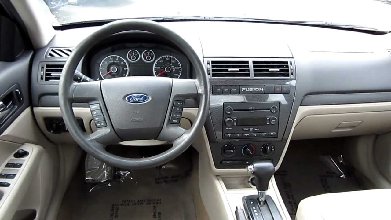 2007 ford fusion v6 se black stock l153388 interior youtube