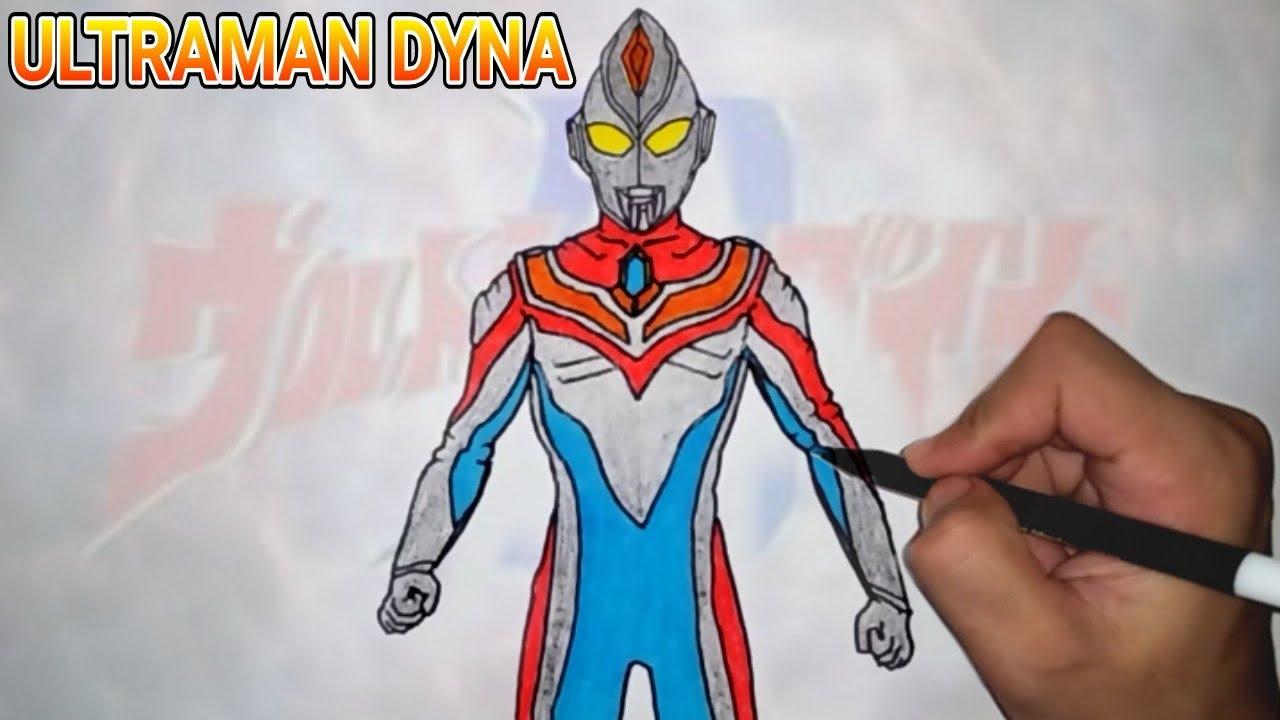 Keren Bagus Menggambar Dan Mewarnai Ultraman Dyna Wow Hebat Mudah Cara Hebat Di 2020 Rabab Minangkabau