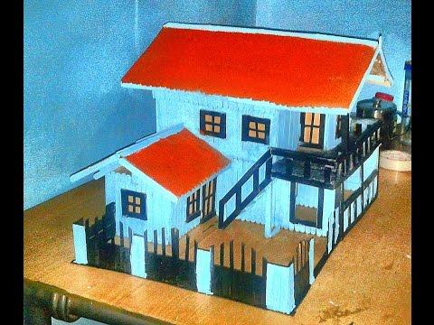 Kreasi Miniatur Rumah Dari Stik Es Krim
