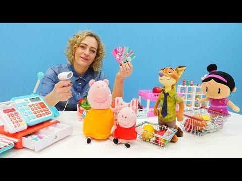 Nicoles Grüne Box - Wir brauchen eine Kassiererin - Spielzeugvideo für Kinder