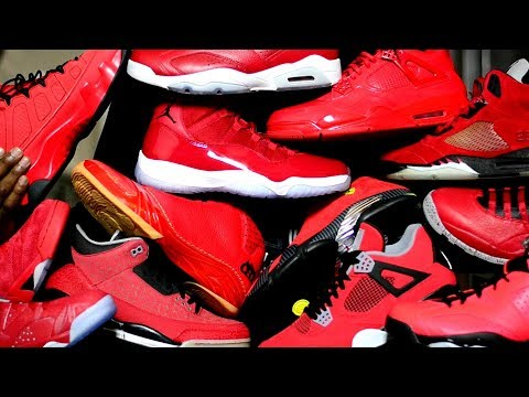 0b57f26eb028a6 Crazy ALL Red Jordan Collection - My TOP 10 w  Honorable Mentions - Happy  New Year 2018
