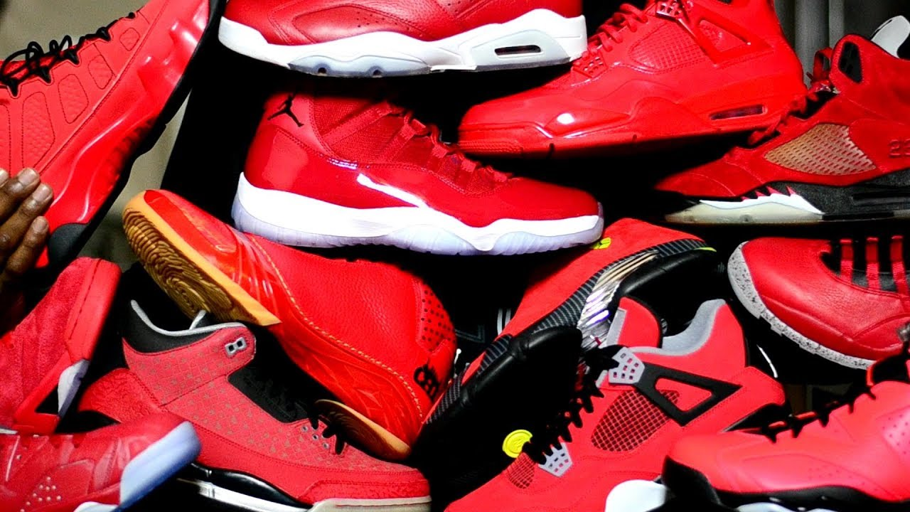 Crazy ALL Red Jordan Collection - My