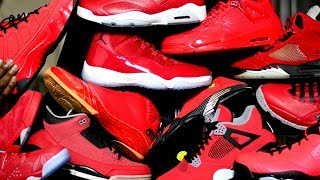 Crazy ALL Red Jordan Collection - My TOP 10 w/ Honorable Mentions - Happy New Year 2018