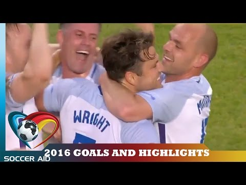 Soccer Aid 2016 Goals and Match Highlights | Soccer Aid