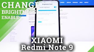 How to Enable Auto Brightness in XIAOMI Redmi Note 9 – Find Automatic Brightness Options