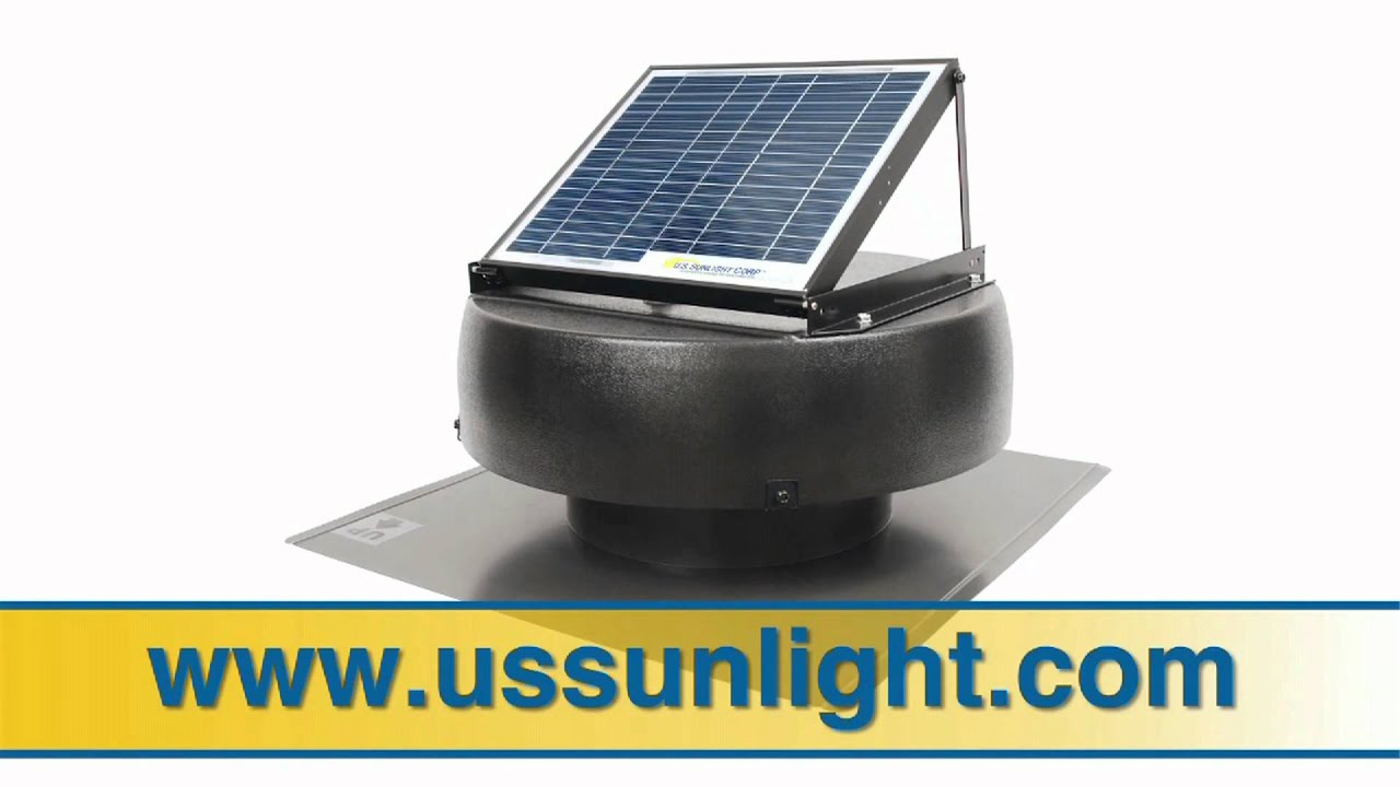 U S Sunlight Professional Series Roof Mount Solar Attic Fan