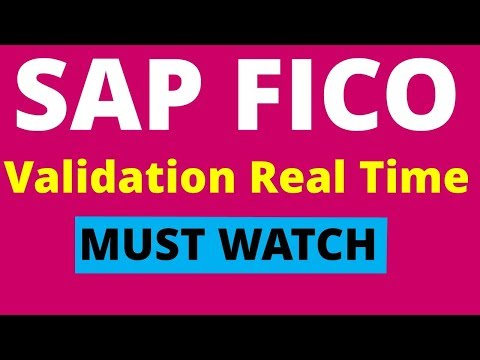 SAP FICO Real Time Project- Validation