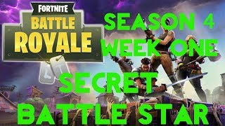 Fortnite Battle Royale | Season 4 Week 1 | Blockbuster Secret Battle Star Location Guide
