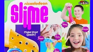 Nickelodeon Slime Kit! Slimy Extravaganza! Neon, Glow in the Dark, Silly Slime