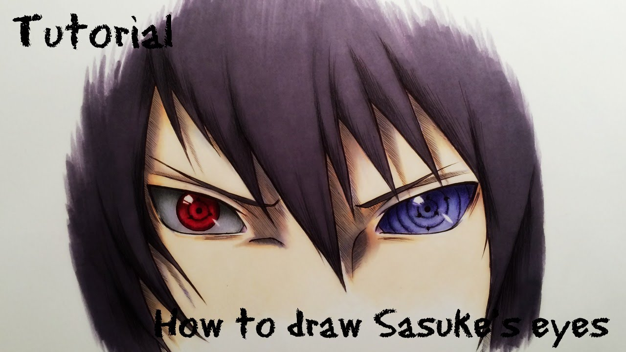 How To Draw Sasukes Sharingan Rinnegan Eyes Drawing Tutorial