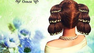 Прическа для девочки косы-колокольчики (плетение кос) Kapralova Olga