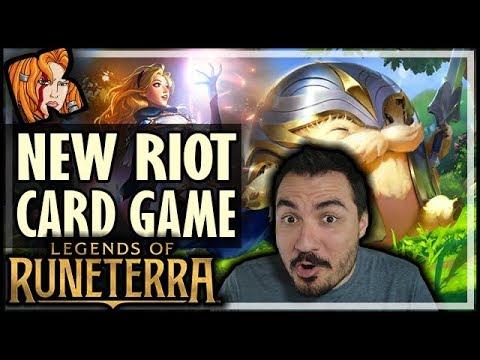 NEW RIOT CARD GAME! LEGENDS OF RUNETERRA