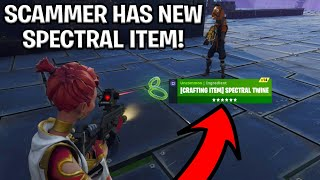 Scammer With New Spectral Item Scams Himself! (Scammer Get Scammed) Fortnite Save The World