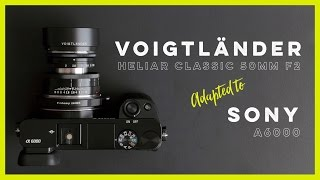 Voigtländer Heliar Classic 50mm f2 Adapted to the Sony A6000