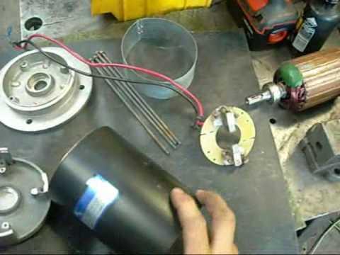 Water Damaged DC Motor Repair pt1  YouTube