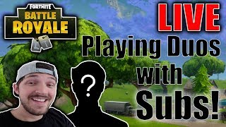 🔴 Playing with Subs! (DUOS) // New Scourge Skin! // Fortnite Battle Royale