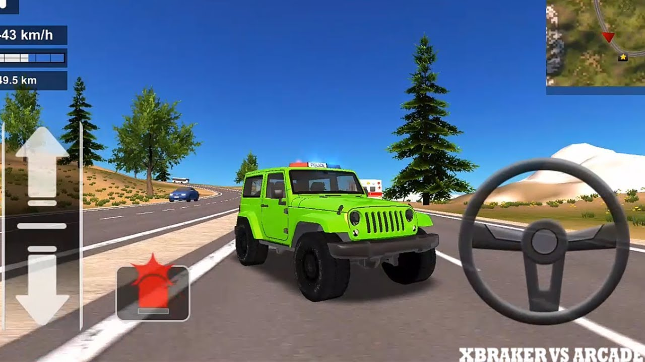Police Car Offroad | Police Chase Simulator: Green Police Jeep 4x4 - Android GamePlay FHD
