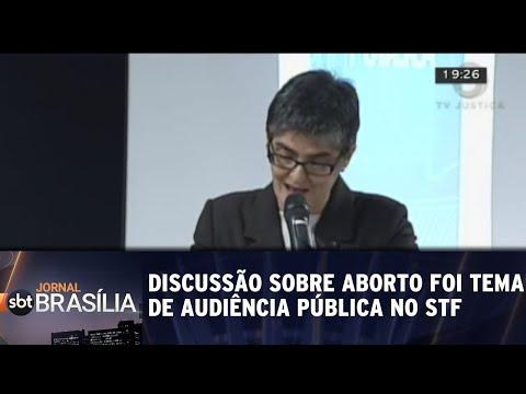 Discussão sobre aborto foi tema de audiência pública no STF | Jornal SBT Brasília 06/08/2018
