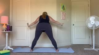 Simple prasarita Padottanasana flow (wide leg twist)