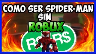 how to DRESS UP as SPIDER-MAN WITHOUT ROBUX in ROBLOX!!