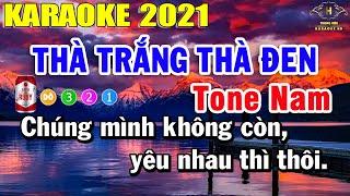 Thà Trắng Thà Đen Karaoke Tone Nam Nhạc Sống 2021   Trọng Hiếu