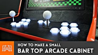 bar top arcade cabinet with a raspberry pi from a single sheet of plywood how to