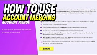 HOW TO MERGE ACCOUNTS IN FORTNITE! FORTNITE ACCOUNT MERGING TUTORIAL!