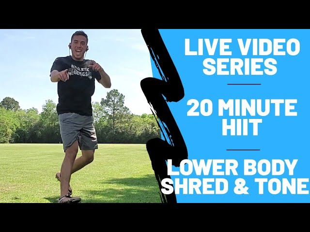 20 Minute HIIT Home Workout | Lower Body Shred & Tone [No Equipment Needed]