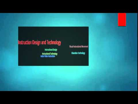 EDIT 6100 Definition of Instructional Technology