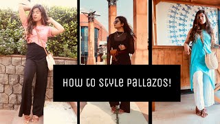 12 WAYS TO STYLE PALAZZO PANTS || #howtostyle