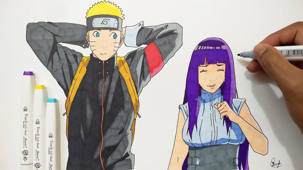 Drawing Naruto & Hinata - Naruto Shippuden 500 Episode ...