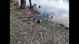 Выехал в марте половить карпа Карповая рыбалка Март 2021