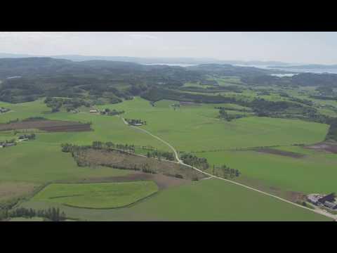 Verdal, Levanger, skog, gårder, småbruk - Flying Over Norway