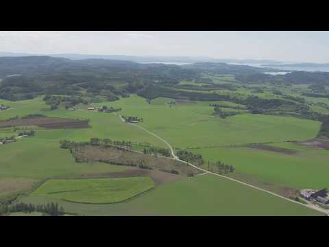Verdal, Levanger, skog, gårder, småbruk - Flying Over Norway
