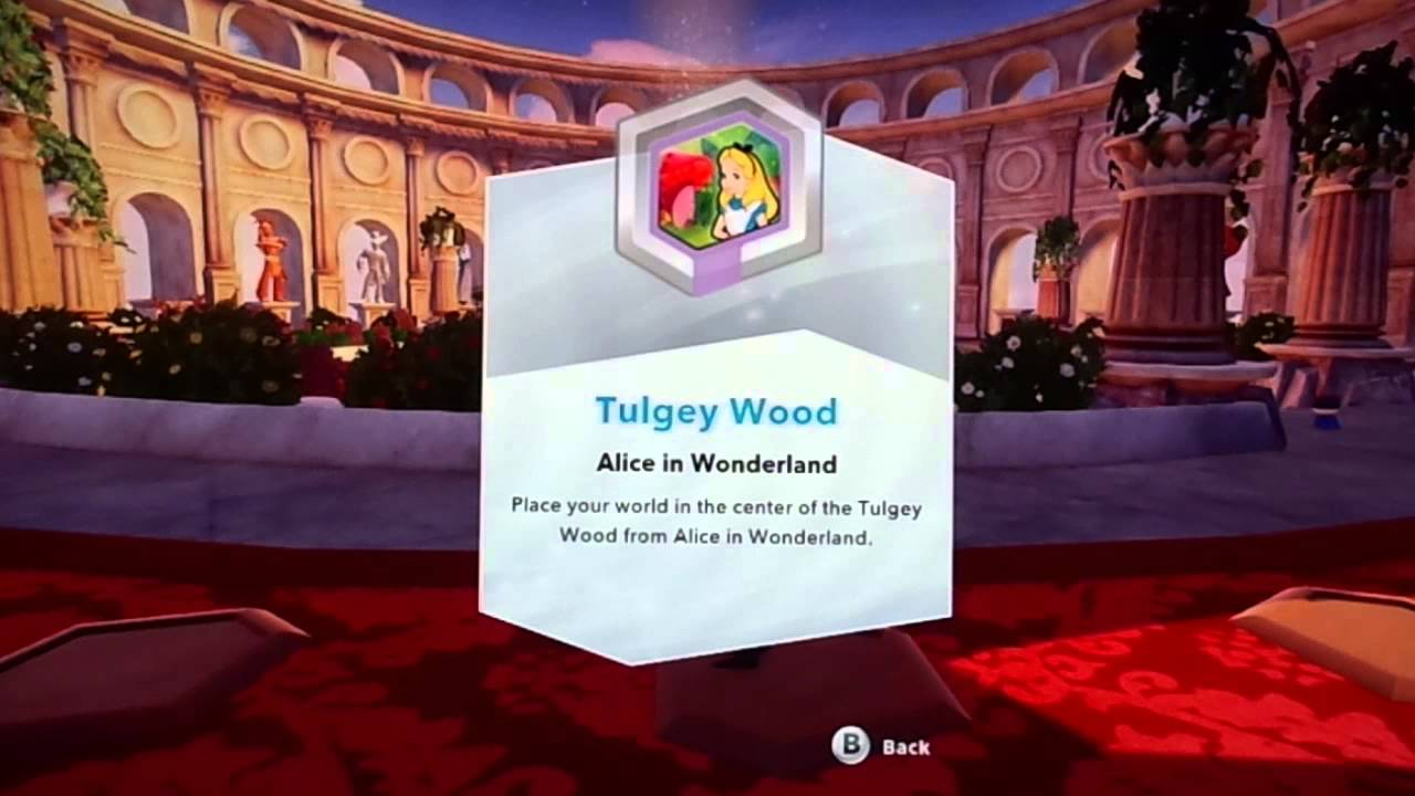 disney infinity alice in wonderland tulgey wood power disc