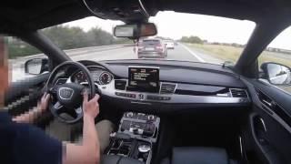 Audi A8L 4.2TDI V8 vs Audi S3 2.0TFSI Onboard POV Real Life Story On German Autobahn