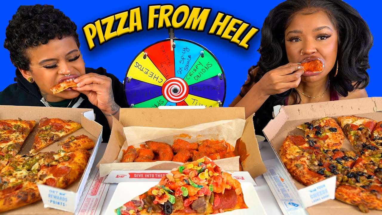 PIZZA FROM HELL MUKBANG CHALLENGE