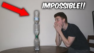 LANDING THE IMPOSSIBLE WATER BOTTLE FLIP! (Crazy water bottle flips)