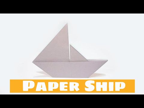 How To Make A Paper Ship ( DIY Paper Boat )