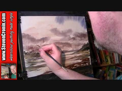 Scottish Landscape #20 Part 2 of 2 Watercolour Painting Techniques