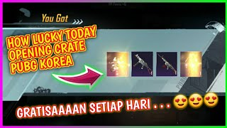 HOW LUCKY TODAY - OPEN CRATE PUBG KOREA TERBARU - PUBG KR