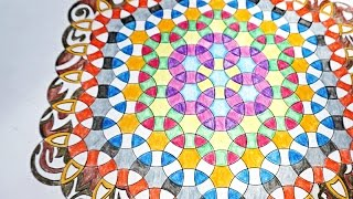 Geometric ripples - How To Draw Mandala Using Circles In 6 Fold Symmetry