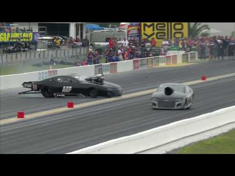 Mike Castellana collides with the wall in Gainesville