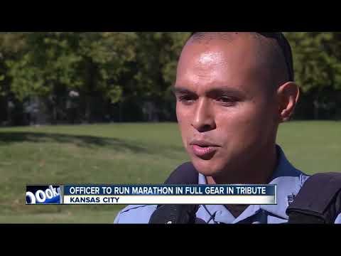 Kansas police officer to run marathon in full gear