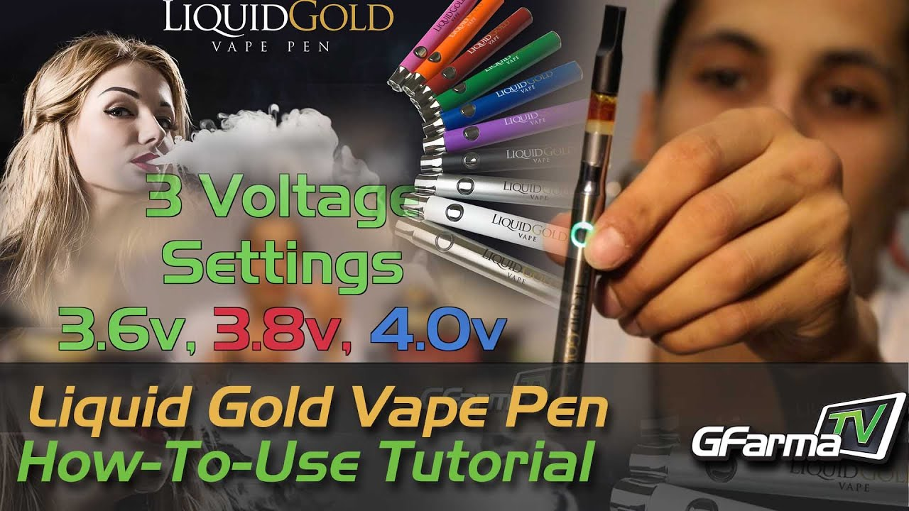Using a Cartridge Vape Pen and Choosing Your Voltage - featuring Chris with  Liquid Gold