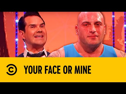 Jimmy Carr Meets Eddie 'The Human Heart Attack' | Your Face Or Mine