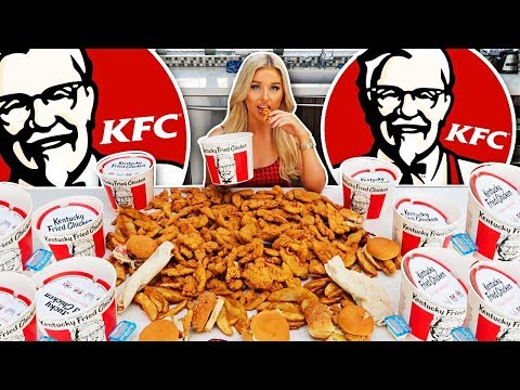 My Girlfriend Ate The Entire KFC Menu In 10 Minutes